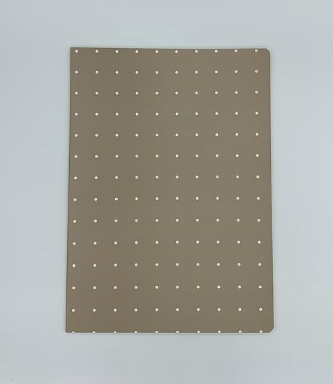 Caderno bolinhas bege