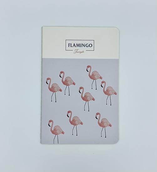 Caderno flamingos Jungle