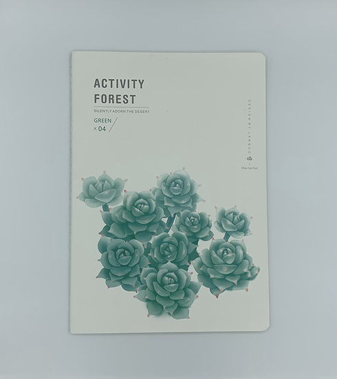 Caderno suculenta Activity Forest