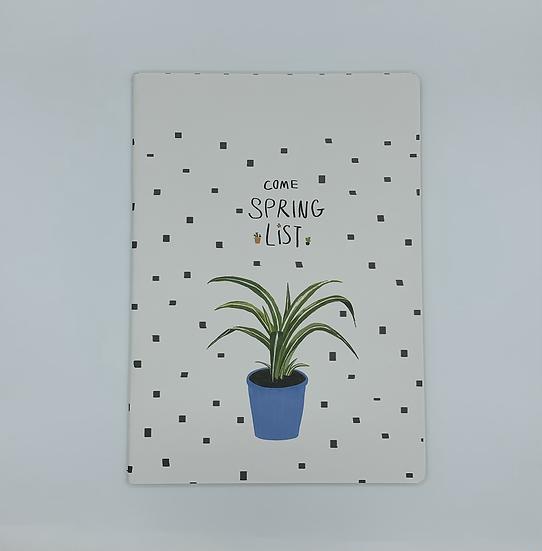 Caderno Come Spring List