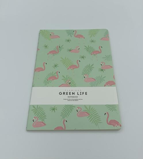 Caderno flamingos Green Life