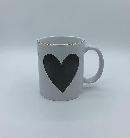 Caneca de Porcelana coração