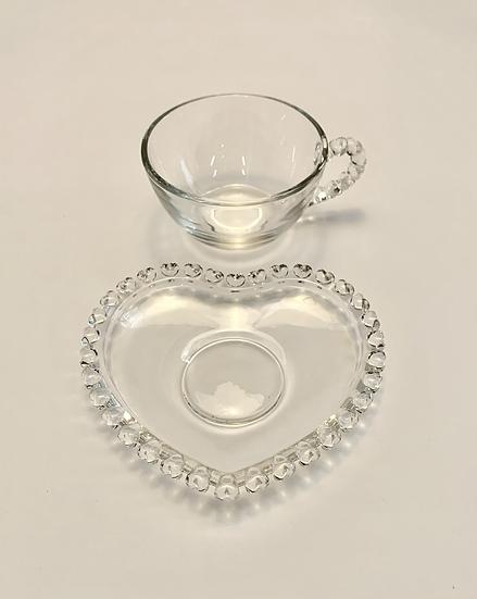 Xícara de cristal coração
