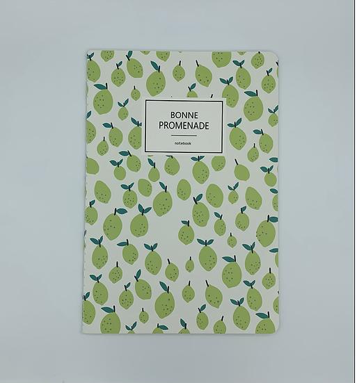 Caderno limão Bonne Promenade