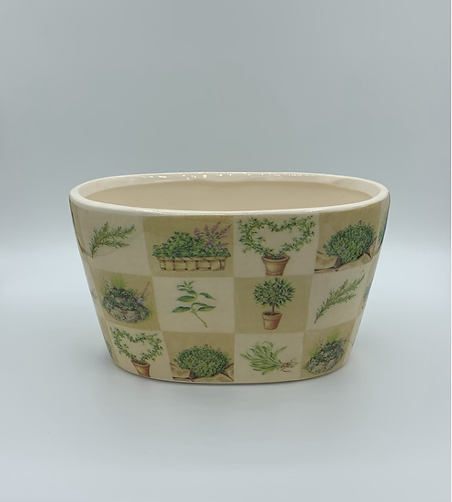 Cachepot cerâmica oval n•1