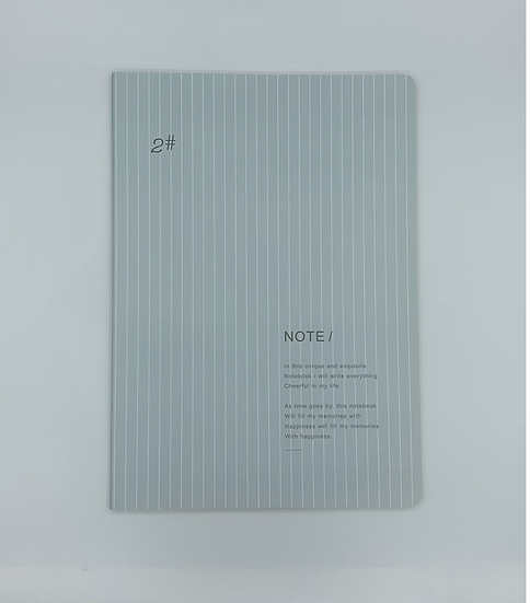 Caderno liso azul
