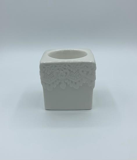 Castiçal cubo porcelana