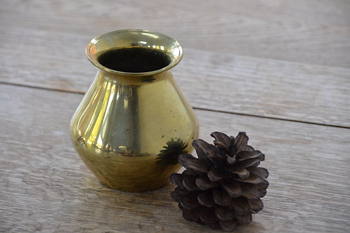 Small Polished Brass Pot