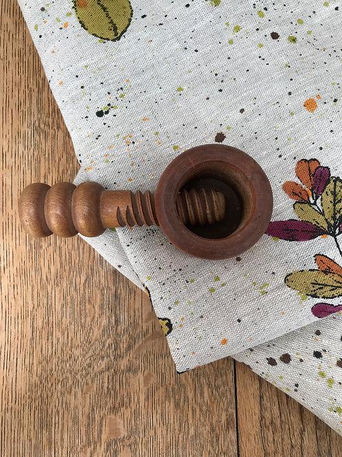 Vintage Wooden Screw Nut Cracker
