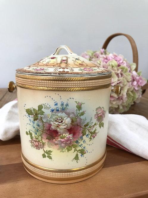 Vintage SF & Co Royal Devon Floral Patterned Biscuit Barrel