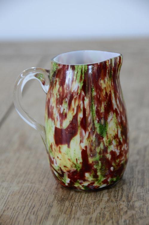 Coloured Glass Jug Multicoloured Milk/Cream/Sauce Jug