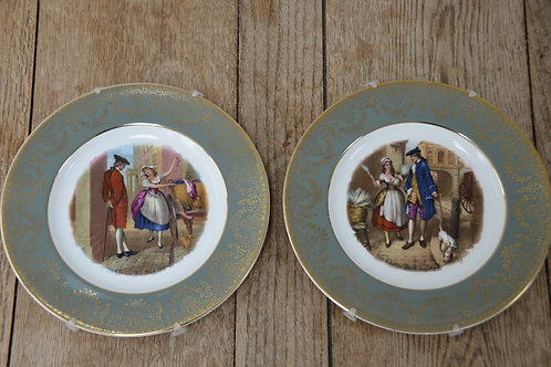 Pair of Liverpool Road Pottery Decorative Plates 'Cries of London'
