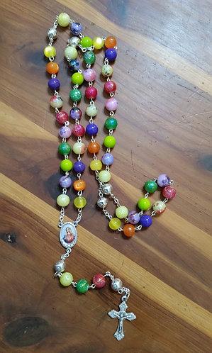 De Colores - Glass bead Rosary