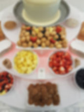 Fruit en hapjes voor de chocoladefontein