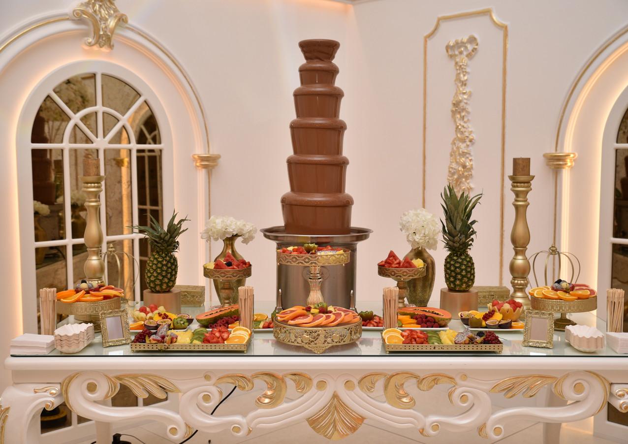 Fruitbuffet met Chocoladefontein