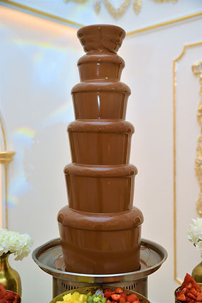 Chocoladefontein met pure chocolade