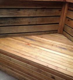 Silvertop decking - seat