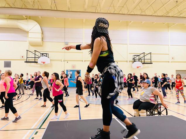 Yvonne Zumba Masterclass Dancing Group P