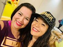 Lissette & Yvonne Zumba Hat.JPG