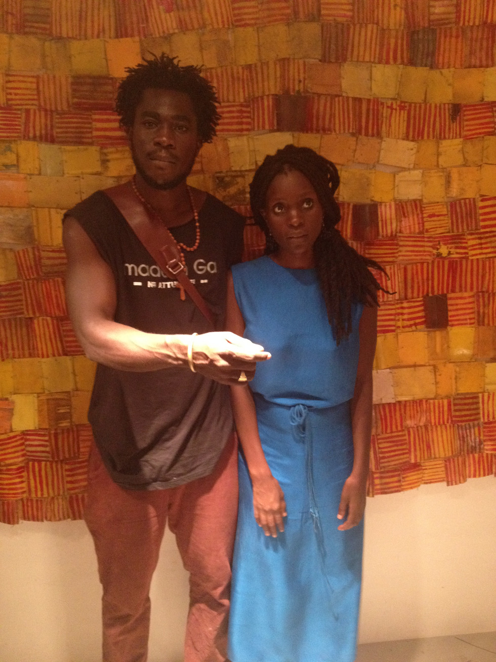 Prof El Anatsui arrives for 2016 Kuenyehia Prize for Contemporary Ghanaian Art Final Awards