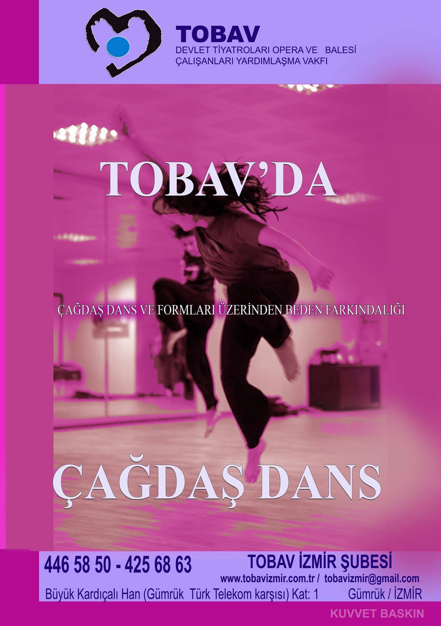 TOBAVda Çağdaş Dans Dersleri