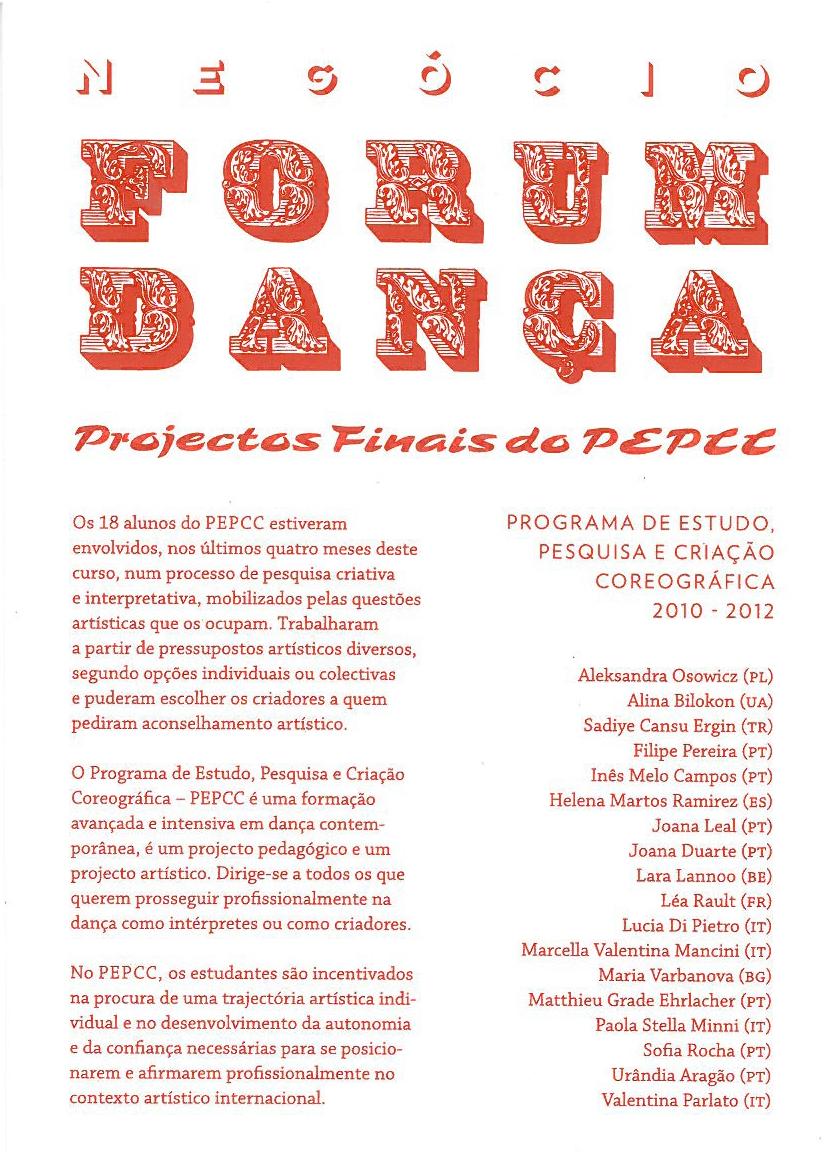 Forum Danca Negocio