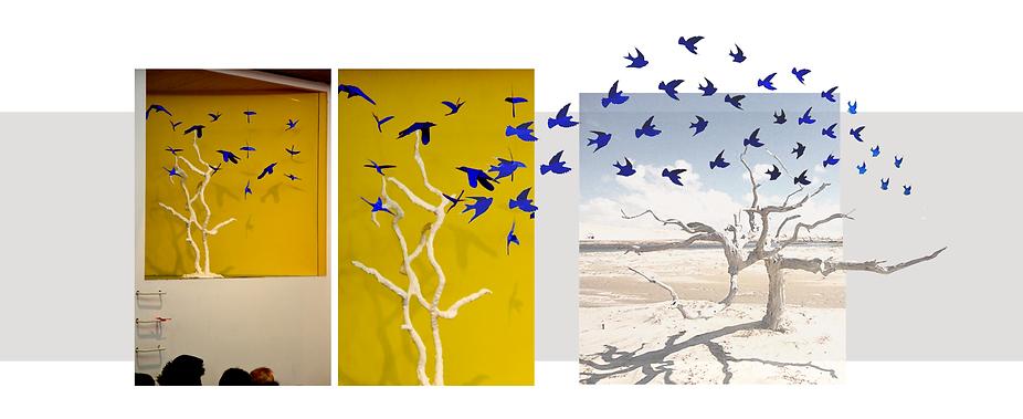 oiseaux papier scénographie concert guitare maison du brésil le corbusier origamis les orpimentes design cité universitaire renato velasco choros