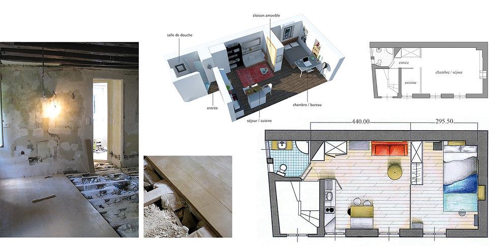 Architecture intérieure studio Orpimentes Imbert Uranie