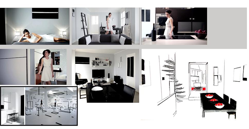 loft au paradis monochrome court métrage Alaxandre lança back in town décor