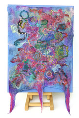 Felted wall panel