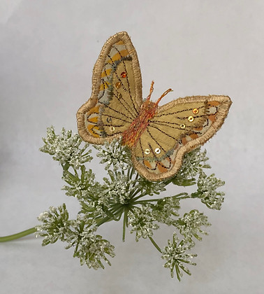 Pale gold butterfly