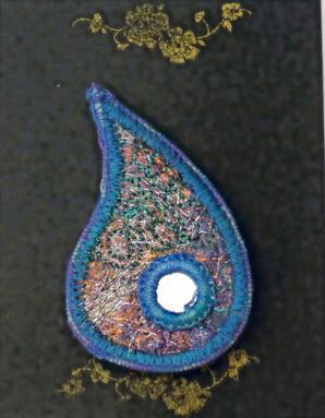 Teardrop brooch