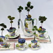 Coffee set in bluebell china