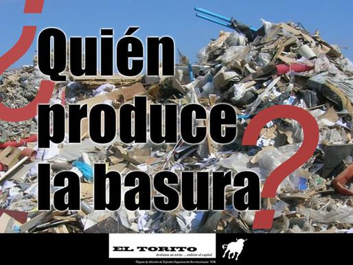 ¿Quién produce la basura?