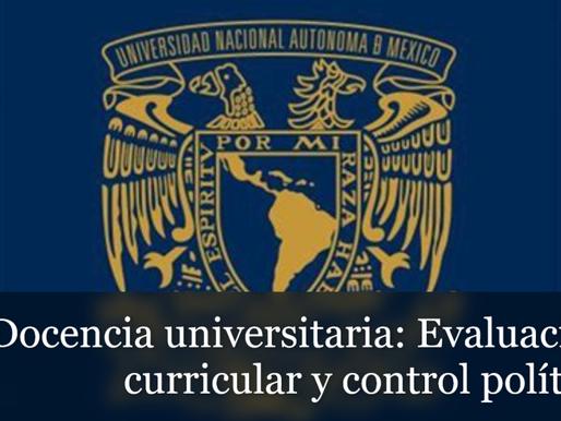 Docencia universitaria: Evaluación curricular y control político*