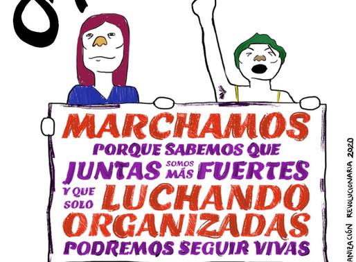 ¡Marchamos el #8M porque somos mujeres, porque somos mujeres trabajadoras, mujeres que luchan!