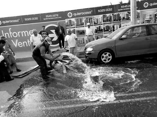 Y el agua sigue corriendo y a su vez faltando en la ciudad… una lógica del capital en la ciudad