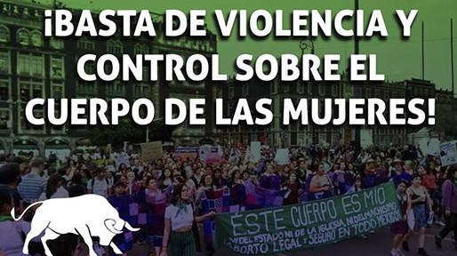 Basta de violencia y control sobre el cuerpo de las mujeres