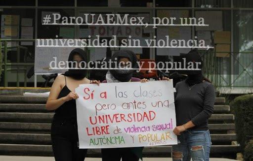 Paro en la UAEMex. !Por una universidad sin violencia de género, democrática y popular!