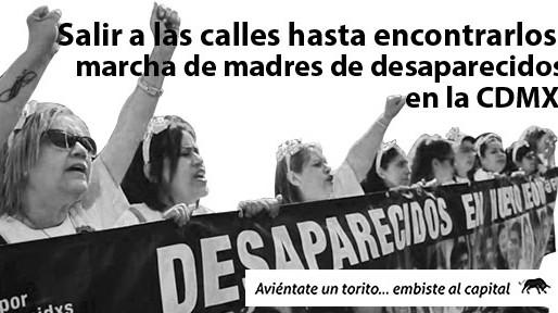 Salir a las calles hasta encontrarlos: marcha de madres de desaparecidos en la CDMX