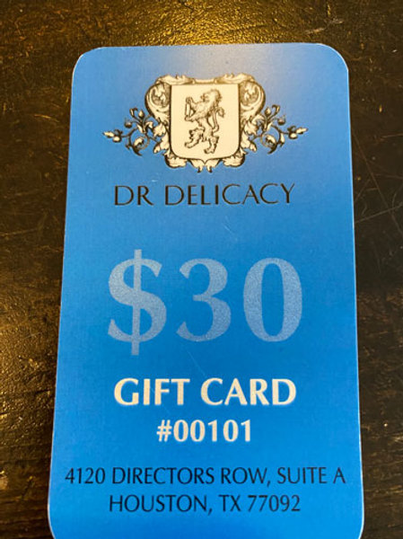 Dr Delicacy  - Gift Card $30 (8 cartes disponibles)