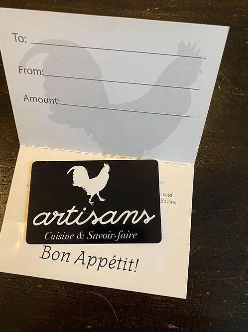 Artisans - Gift Card $150 (2 cartes disponibles)
