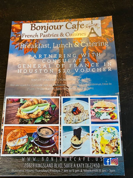 Bonjour Cafe   - Gift Card $30 (10 cartes disponibles)