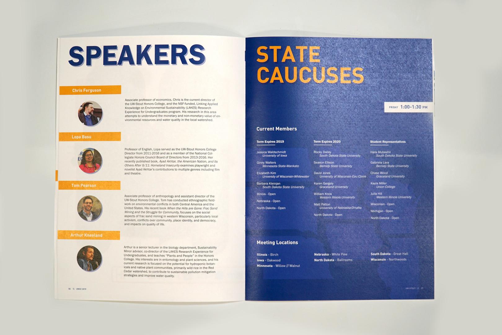 Speakers + State Caucuses
