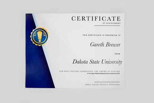 Certificate Award