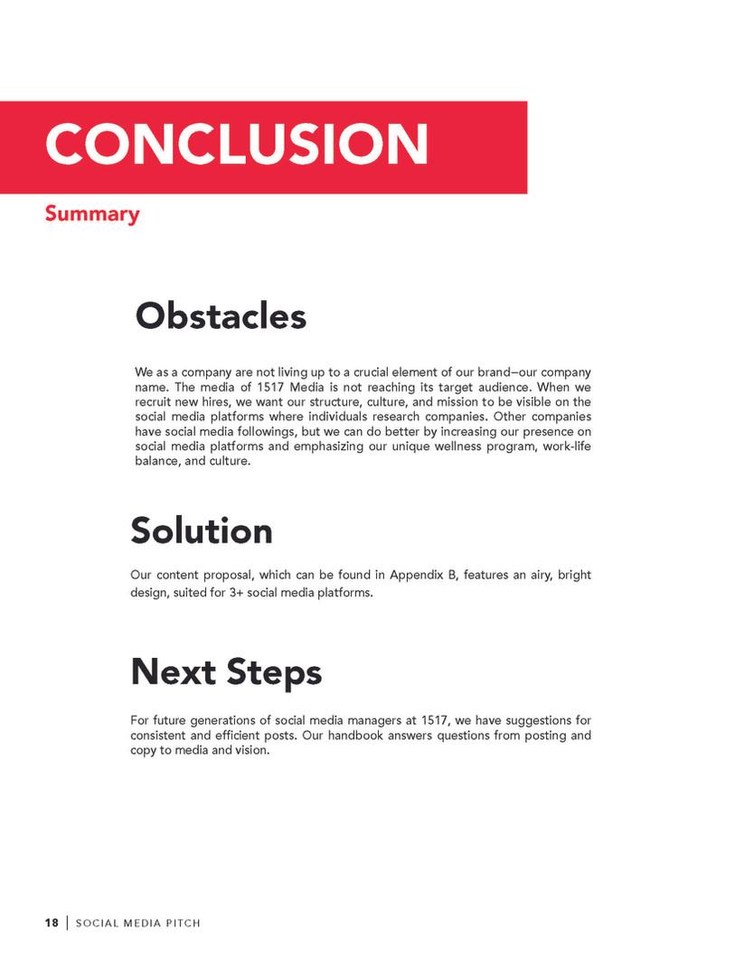 Proposal Conclusion