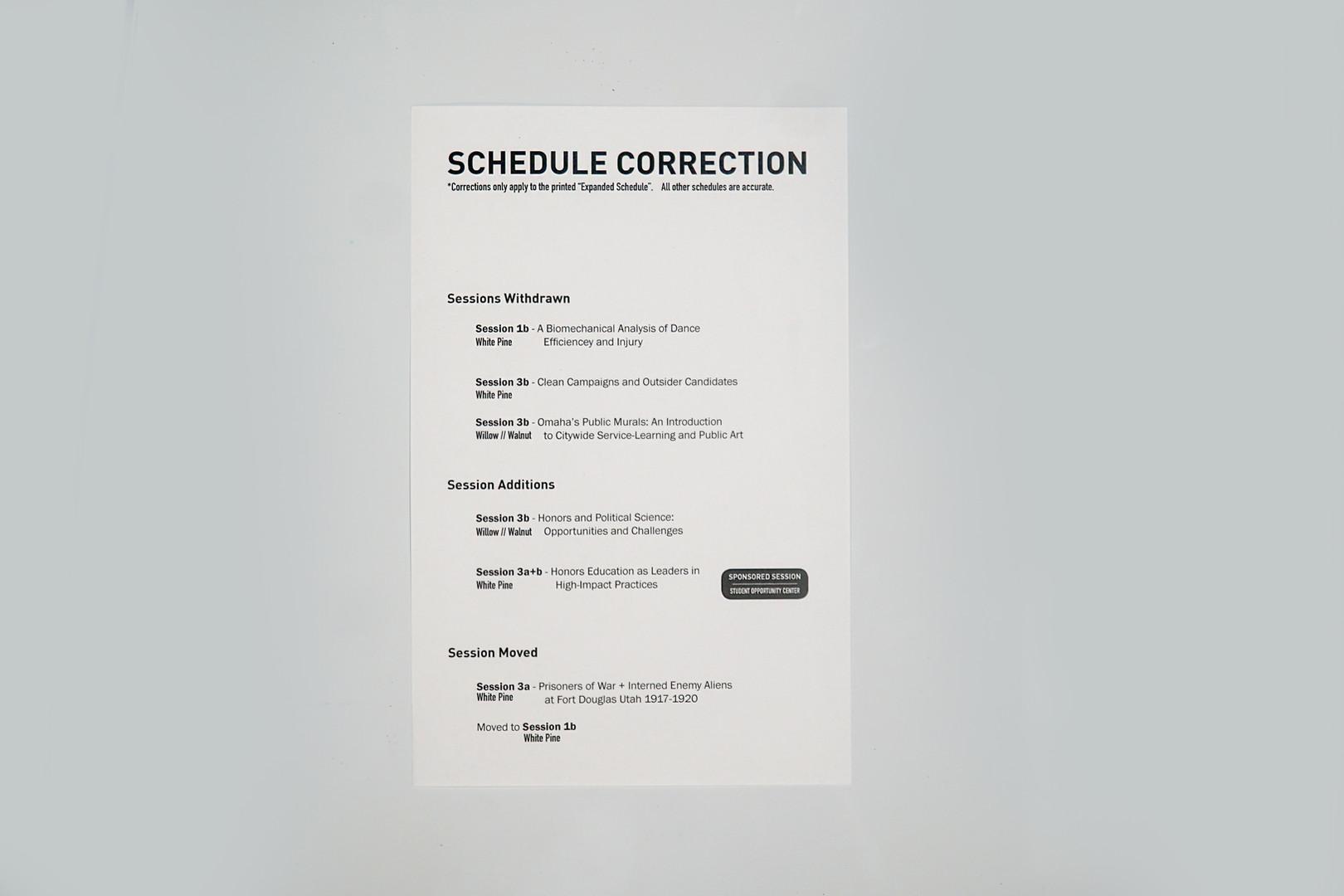 Schedule insert