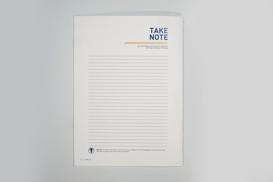 Note Taking Page