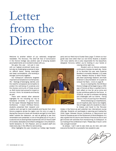 Letter from the Director