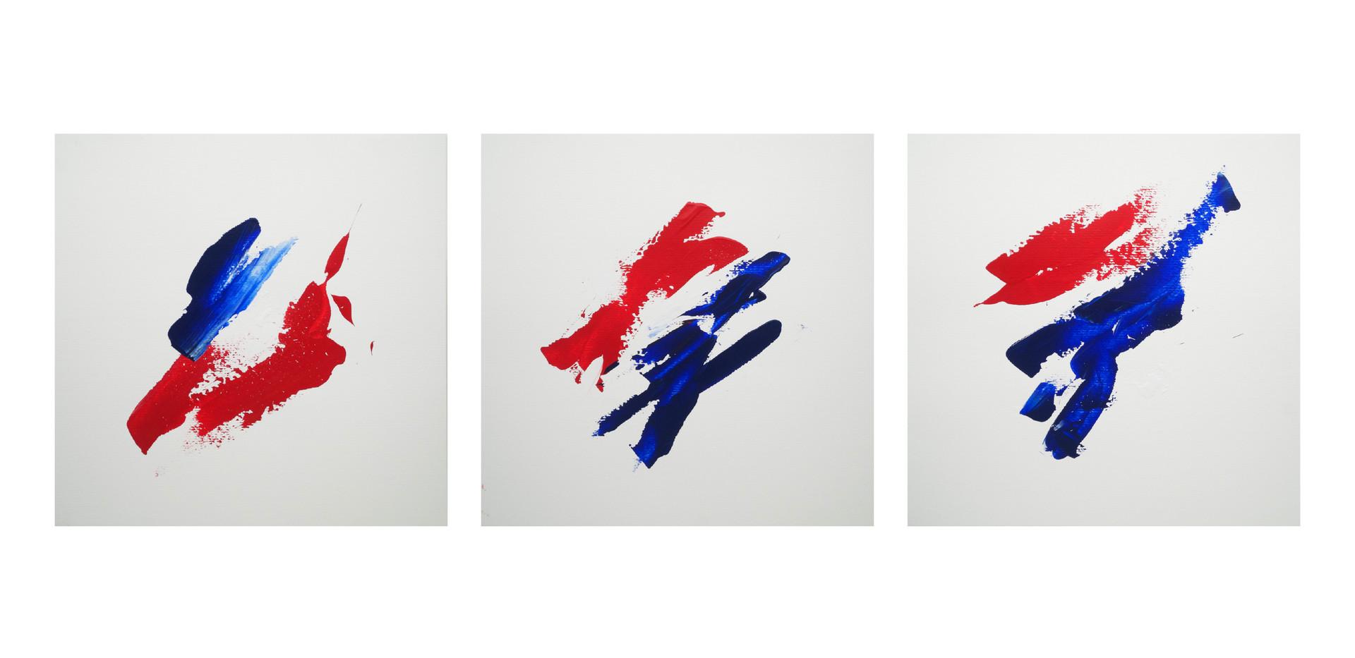 Karina Matheus - Heart-land I, II & III (triptych)